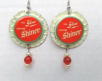 Shiner Gift Tag Earrings
