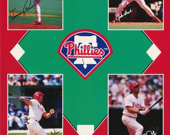 Philadelphia Phillies Collage   1993  Poster