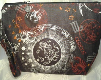 Scorpio DPN, Scorpio Zippered bag, Zodiac wedge bag, Crochet Scorpio  bag, Travel bag wedge