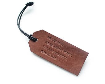 Little Leather, Leather Luggage Tag/ Travel Tag/ Gifts for Adventurer, Traveler, Backpacker, Camper and Hiker / Gift for