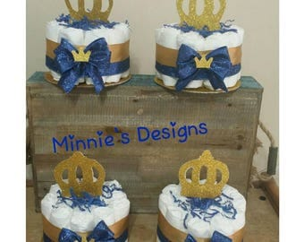 Royal prince diaper cakes,Royal prince babyshower,Royal prince invites,Royal prince centerpiece,Royal prince table letters,Royal prince baby