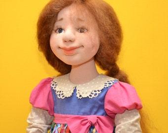 Текстильная кукла девушка. Interior Doll, . Кукла ручной работы в подарок Авторская работа.Gift for Girls. Home Decor.Art Dolls.Textile doll