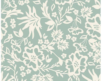 Apricot Floral Mint Riley Blake 1/2 yard and 1 Yard Cuts
