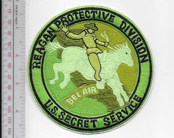 US Secret Service USSS President Reagan Protective Division Belair Agent Service Patch green