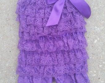 Purple Lace Romper