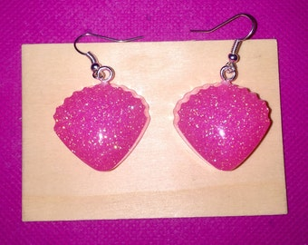 Glitter mermaid tween teen jewelry resin earrings resin jewelry