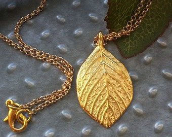 Leaf necklace leaf necklace gold