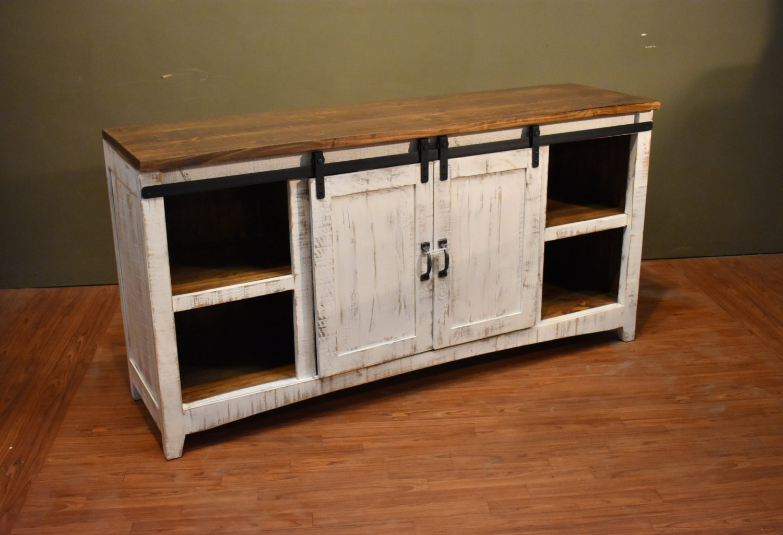 rustic solid reclaimed wood 68 inch tv stand media. Black Bedroom Furniture Sets. Home Design Ideas