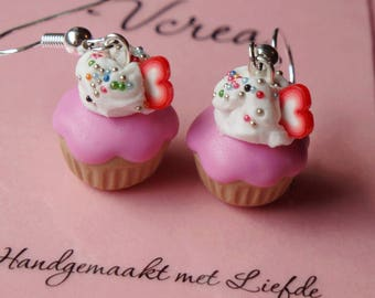 Pink Frosted Cupcakes Earrings