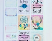 Boho Beauty -  Planner/ Journal stickers
