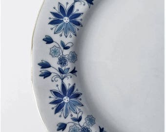 Arabia of finland small plates 1930-1940s // Finnish vintage // ARABIA appetizer plates // Made in Finland // RARE Blue flowers Golden edges