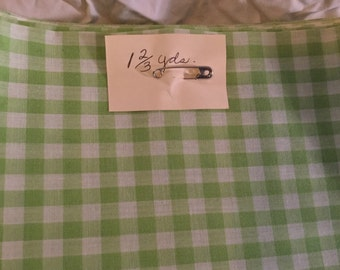 1 2/3 yard Green and white fabric