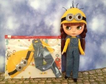 Blythe, Dal  Minion  dungarees Set