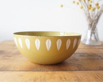 Mid century vintage lotus enamel Catherine Holm bowl
