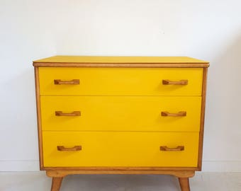 SOLD Vintage retro chest of drawers