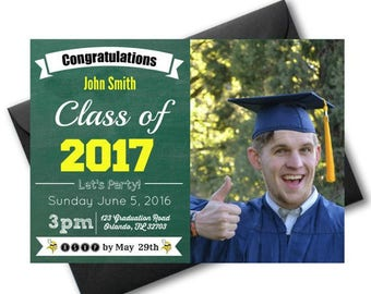 2017 Graduation Party, Printable Graduation party invitations, College Graduation Party Invitations, 2017 Graduation Invitation PDF, Grad
