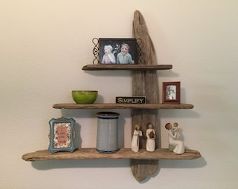 Ohio River Driftwood Shelf Creations