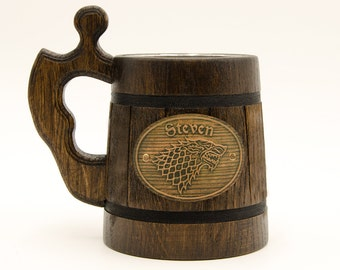 Winter is Coming, Game of Thrones Gift, Game of Thrones mug, House Stark Mug, GoT Mug, Game of Thrones inspired gift, Beer tankard Gift