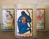 Hanuman Gift Yoga Candle - Lord Hanuman  - All Natural Beeswax Candle - Meditation Candle