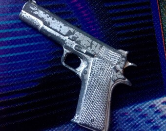Miniature Cast Metal Colt 45 Toy Replica