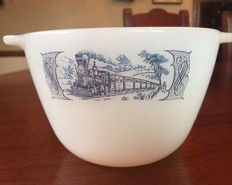 Vintage Fire King Train Bowl