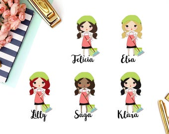 Cleaning, Housework | Girl (matte planner stickers, perfect for planners)