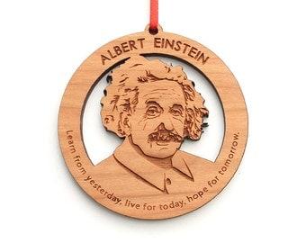 Albert Einstein Christmas Ornament - Science Gift Christmas Ornament