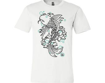 T-SHIRT KOMOA carp koi (Black or White)