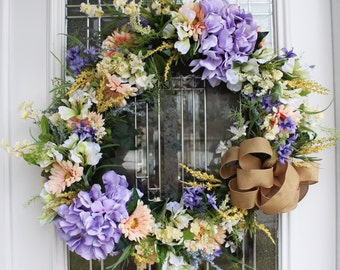 Spring Pastels Full Floral Wreath