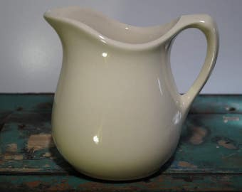 Off-White Ironstone Pitcher