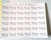Clean Toilet Planner Stickers Decorative Edition