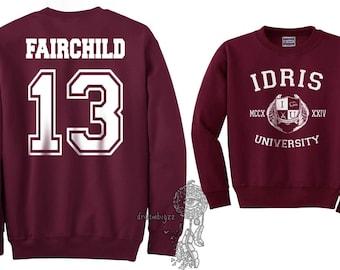 Fairchild 13 Idris University Crew neck Sweatshirt Maroon