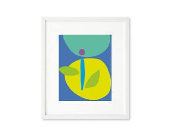 Blossom - single print, minimalist floral, contemporary graphic, abstract botanical, modern, wall art, home décor