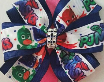 PJ Masks 4 inch pinwheel hair bow