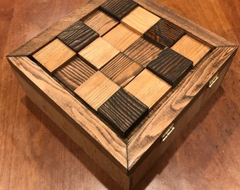 Handmade Pine Wood Jewelry Box