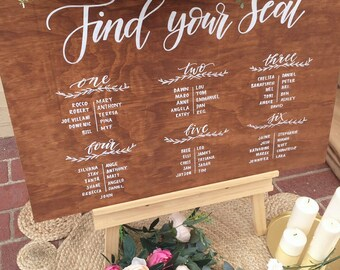 SEATING CHART | Wedding Seating Plan | Rustic Wedding Decor | Wedding Props | Guest seating chart | Wedding sign | Event seating chart