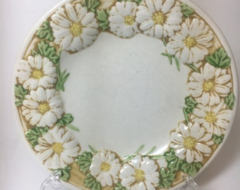 Vintage Daisy Pattern Plates, set of 4 small bread plates, Poppy Trail by Metlox, Made in California, floral pattern plates