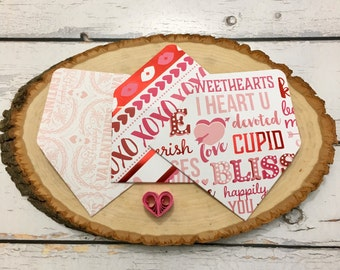 Gift card envelope etsy assorted valentines day themed gift card envelopes business card envelopes reheart Images