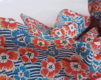 Handmade Scarf in Liberty's 'Ellie Ruth' Print on Silk / Cotton Voile