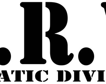 "Z.R.V. Zombie Response Vehicle Aquatic Division Vinyl Decal 8""x3"""