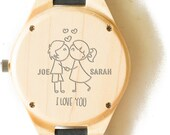 Anniversary Gift, Wood Watch, Men's Watch, Custom Watch,   Personalized Gift, Husband Gift, Engraved Watch, Wooden Watch, Wood Watches