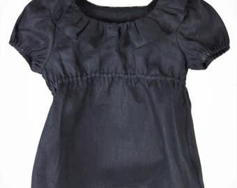 Charcoal Linen blouse