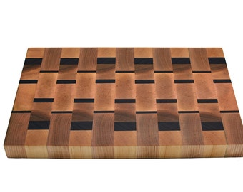 Maple and Walnut End Grain Butcher Block style Cutting Board