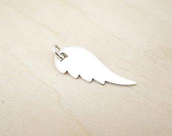 Sterling Silver Angel Wing Blank - Stering Silver Angel Wing - Sterling Silver Stamping Disc - Sterling Silver Stamping Blanks