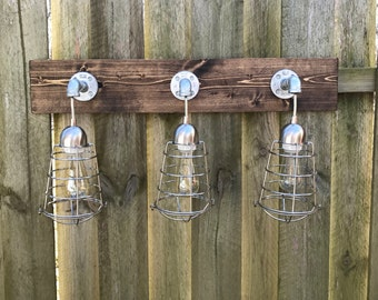Rustic Bathroom Light Fixtures bathroom lighting | etsy