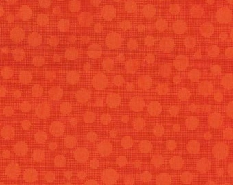 Little Movers HASH DOT in CLEMENTINE from Michael Miller - 1/2 yard