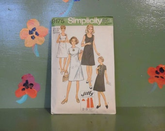 Simplicity 9175 Jiffy Sewing Pattern Dress Fashion Design Mid Century Modern Retro Vintage