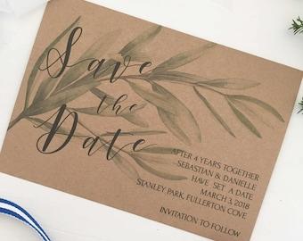 Botanical Save the Date, Invitations Wedding, Invitation Calligraphy, Save the Date Rustic, Wedding Rustic Elegant, Country Chic Wedding