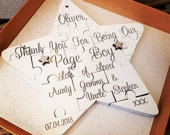 Thank you for being my... Page Boy, Bridesmaid, Personalised Keepsake Gift, Thank you Gift, Wedding Gift