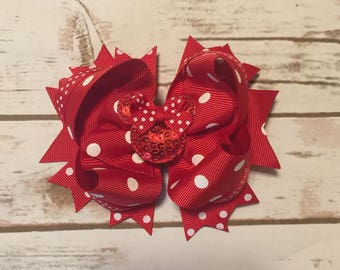 Minnie Mouse Bow (Red)